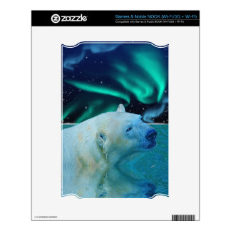 Arctic POLAR BEAR Wildlife Device Skin Decal For NOOK