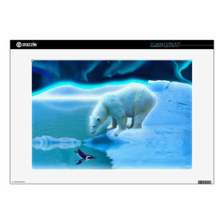 "Arctic POLAR BEAR Wildlife Device Skin Decal For 15"" Laptop"