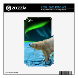 Arctic POLAR BEAR Wildlife Device Skin Decals For iPod Touch 4G