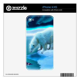 Arctic POLAR BEAR Wildlife Device Skin Decals For The iPhone 4