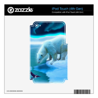 Arctic POLAR BEAR Wildlife Device Skin iPod Touch 4G Decals