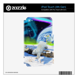 Arctic POLAR BEAR Wildlife Device Skin iPod Touch 4G Skins
