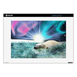 """Arctic POLAR BEAR Wildlife Device Skin Skin For 15"""" Laptop"""