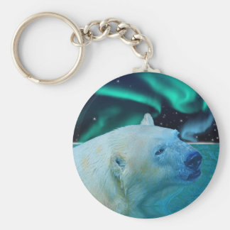 Arctic Polar Bear Wildlife Gift Keychain