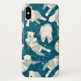 arctic polar bears blue iPhone x case