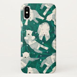 arctic polar bears green iPhone x case