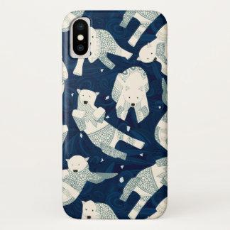 arctic polar bears midnight iPhone x case