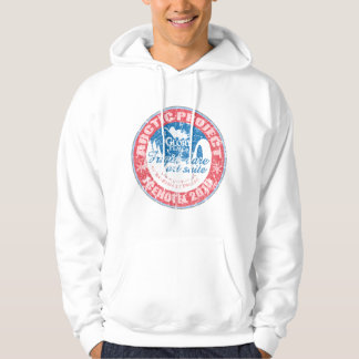 ARCTIC PROJECT Distressed design on white hoodie