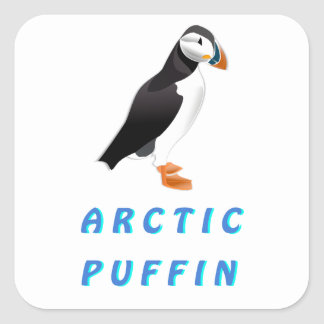 Arctic Puffin Square Sticker