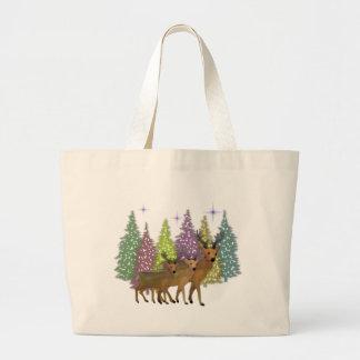 Arctic Reindeer Canvas Tote Bag