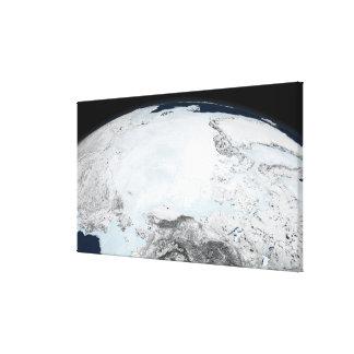 Arctic sea ice 2 canvas print