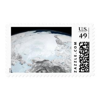 Arctic sea ice 2 postage stamp