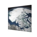 Arctic sea ice above North America Stretched Canvas Prints