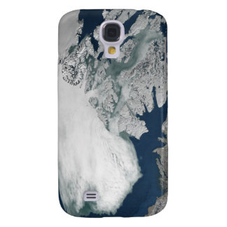 Arctic sea ice above North America Samsung Galaxy S4 Case