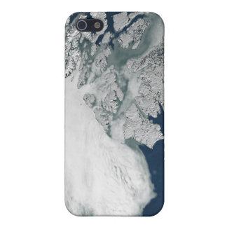 Arctic sea ice above North America iPhone 5 Cover