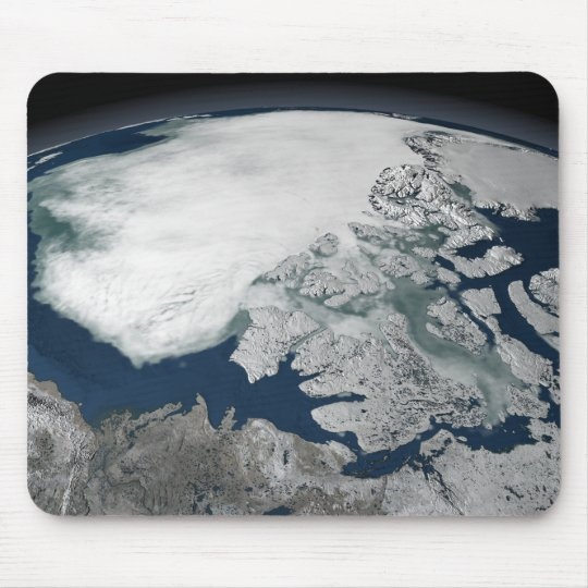 Arctic sea ice above North America Mouse Pad