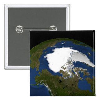 Arctic sea ice in 2005 pinback button