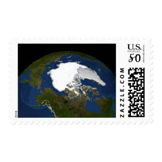 Arctic sea ice in 2005 postage
