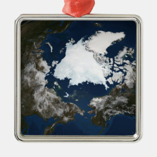 Arctic sea ice metal ornament