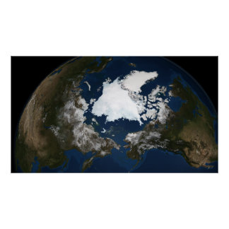 Arctic sea ice poster