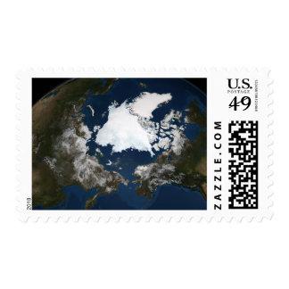 Arctic sea ice stamp