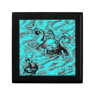 Arctic Sea Monster and Sailing Ship Jewelry Box