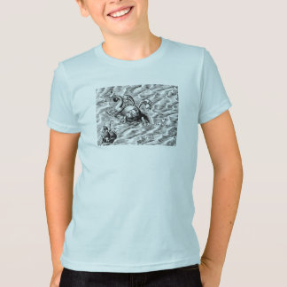 Arctic Sea Monster and Sailing Ship T-Shirt