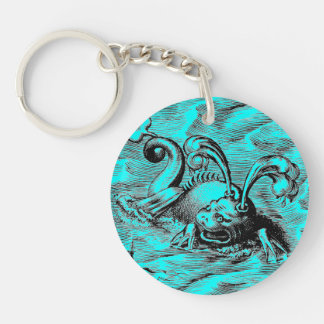 Arctic Sea Monster Double-Sided Round Acrylic Keychain