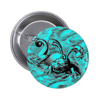 Arctic Sea Monster Pinback Button