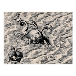 Arctic Sea Monster Post Cards