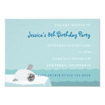 "Arctic Seal Ocean Children's Birthday Invitation 5"" X 7"" Invitation Card"