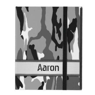 Arctic Snow Camo Name Template iPad Cases