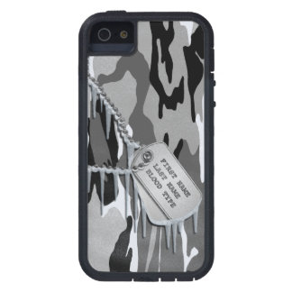 Arctic Snow Camo w/ Dog Tags iPhone 5 Cases