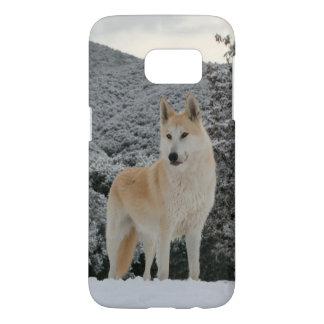 Arctic Snow Wolf Samsung 7 Case