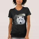 arctic snow wolf t shirt