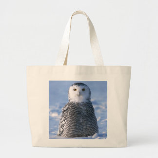 Arctic Snowy Owl Photo Designed Personal Large Tote Bag