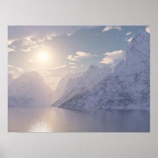 Arctic Sunset Poster