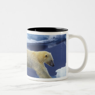 Arctic, Svalbard, Polar Bear hovering with all Two-Tone Coffee Mug