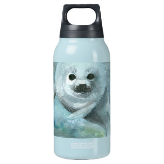 Arctic Swimmer Harp Seal Thermos Bottle