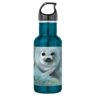 Arctic Swimmer Harp Seal Water Bottle