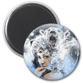 Arctic Tears 2 Inch Round Magnet