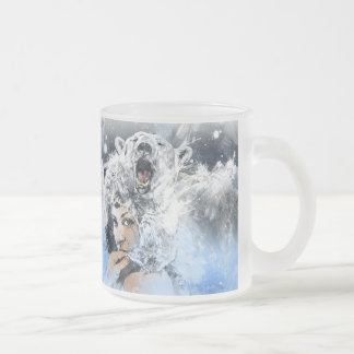 Arctic Tears Frosted Glass Coffee Mug