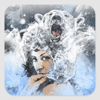 Arctic Tears Square Sticker