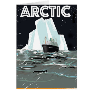 Arctic Vintage travel poster Card
