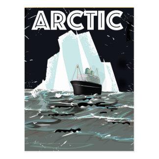 Arctic Vintage travel poster Postcard