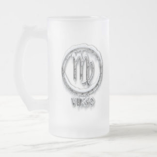 Arctic Virgo Frosted Glass Beer Mug