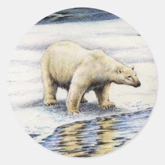 Arctic Wanderer Classic Round Sticker