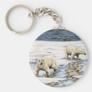 Arctic Wanderers Basic Round Button Keychain