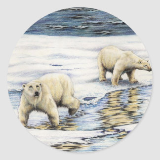 Arctic Wanderers Classic Round Sticker