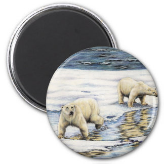 Arctic Wanderers 2 Inch Round Magnet